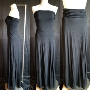 GAP Small Tall Black Maxi Dress Skirt Convertible